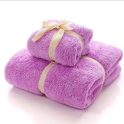Toallas de baño Bayeta de coral de agua Toalla absorbente de algodón suave de alta calidad ...