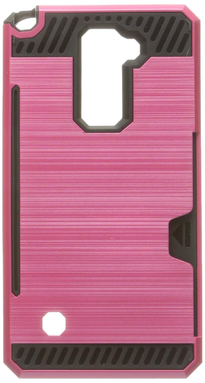 LG Stylo 2 / Stylus 2 LS775 / Stylus 2 Plus K550用イーグル携帯ケース - 小売包装 - ブラック/ホットピンク   B01GXQAER8