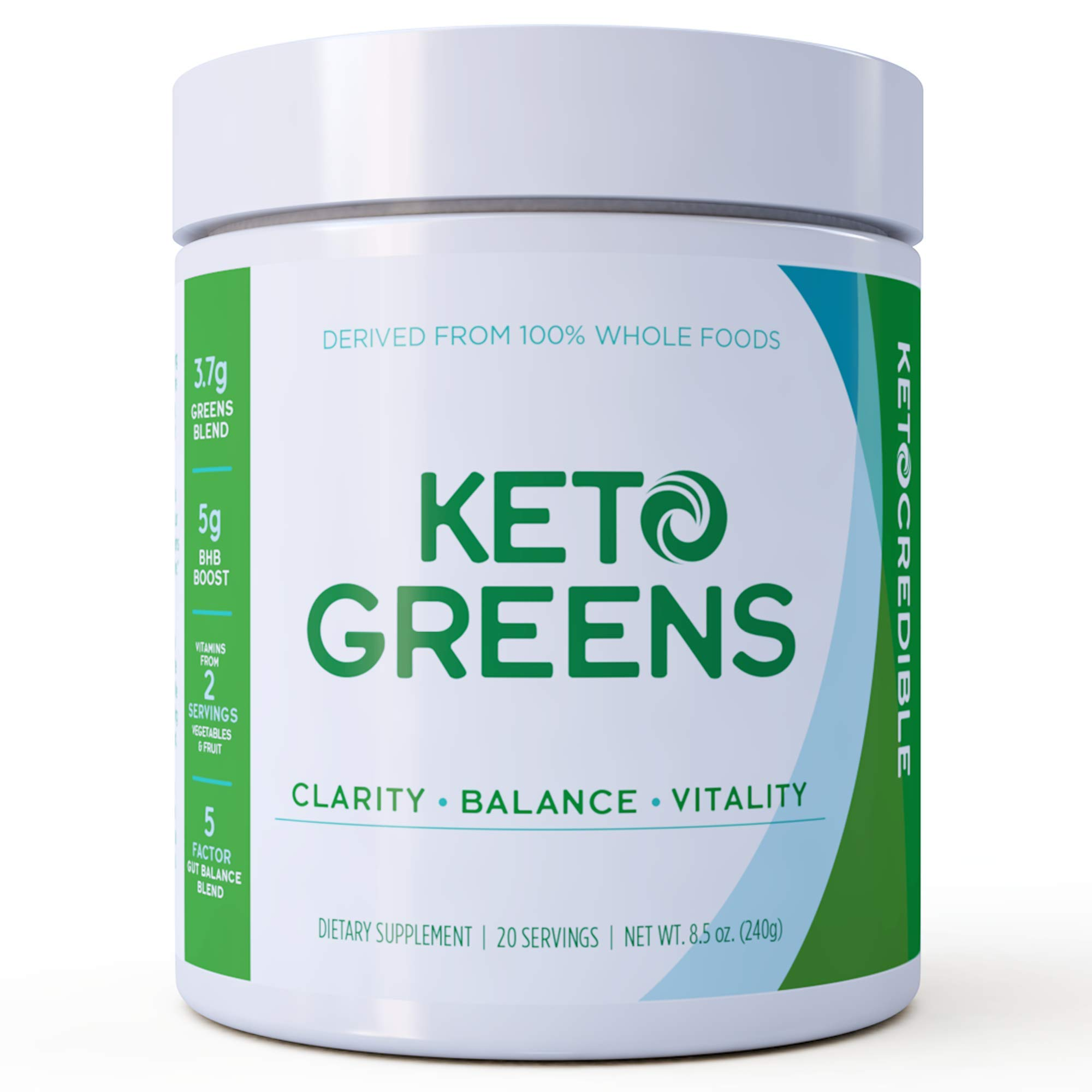 Keto Credible KetoGreens, Healthy Superfoods and Exogenous Ketones in One Drink, Optimized to Burn Fat, Increase Energy/Clarity and Jump-Start Ketosis