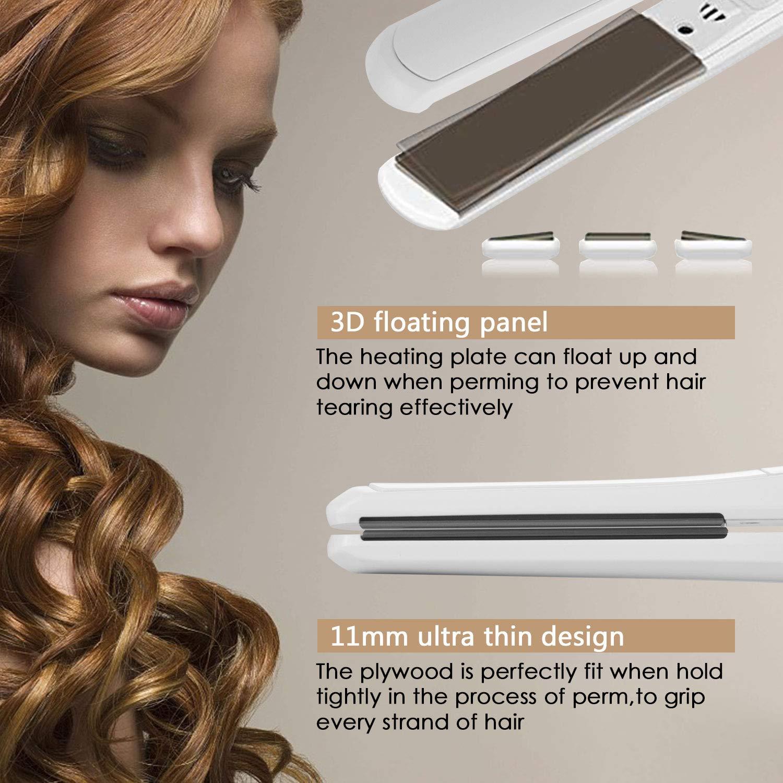 Hair Straightener Flat Iron, 100% Hard Titanium Ion Plates Flat Iron for All Types of Hair