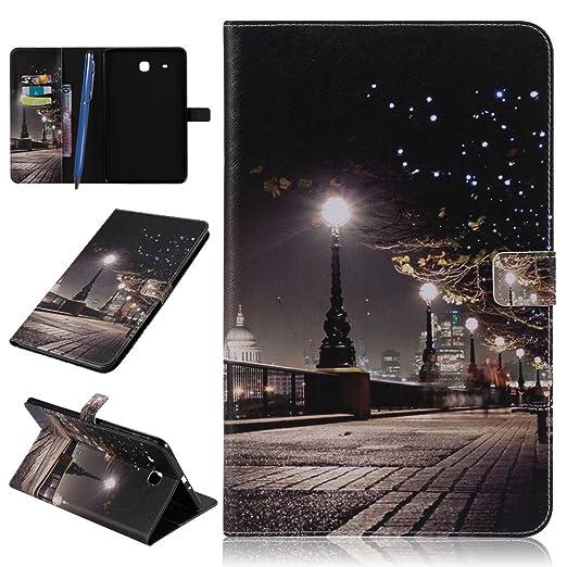 10 opinioni per CareyNoce Galaxy Tab E 9.6 Tablet Custodia,Magnetico Flip PU Cuoio Caso per