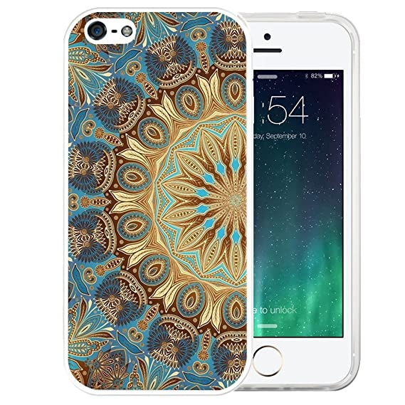 0aa9ee7378d Image Unavailable. Image not available for. Color: iPhone SE Case, LAACO  Beautiful Clear TPU Case Rubber Silicone Skin Cover for iPhone 5