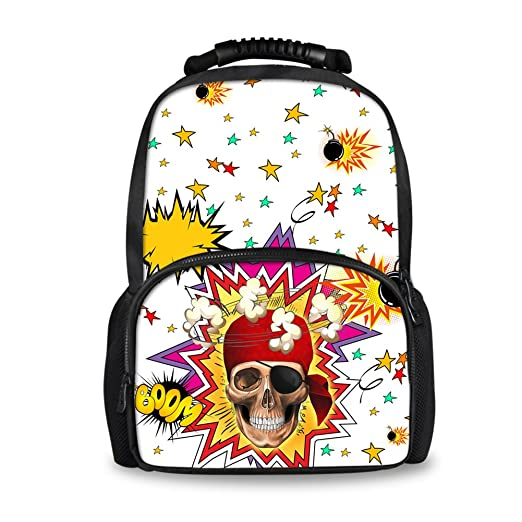 Image Unavailable. Image not available for. Color  Senior High School  Backpack Cool Punk Skull Personalized Travel Rucksack Bookbag 93efd2585a188