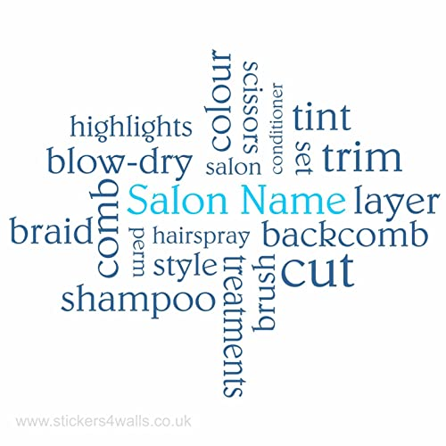 hairdresser hair salon wall decor personalised hairdresser wall art
