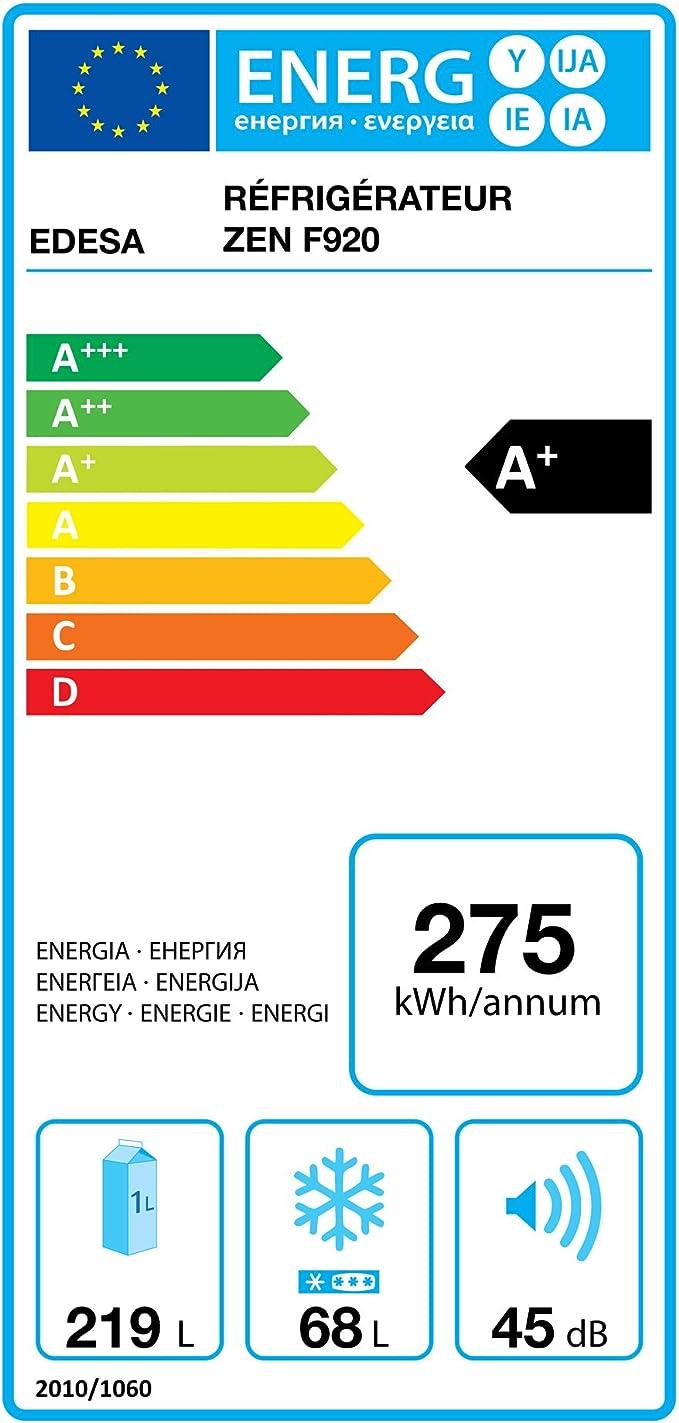 Edesa ZEN-F920 Integrado 291L A+ Plata nevera y congelador ...