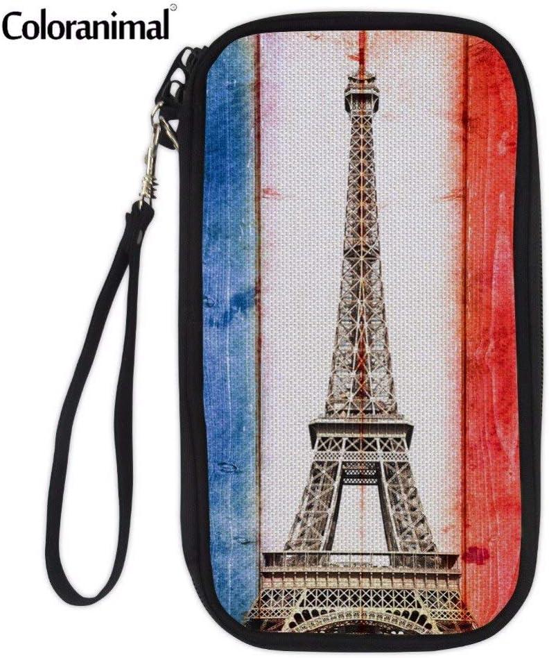 TZY Professional Travel Passport Bag for Teenager Girl Boys 5D Eiffel Tower Animal Print Women Men ID Passport Hold Credit Card Packs