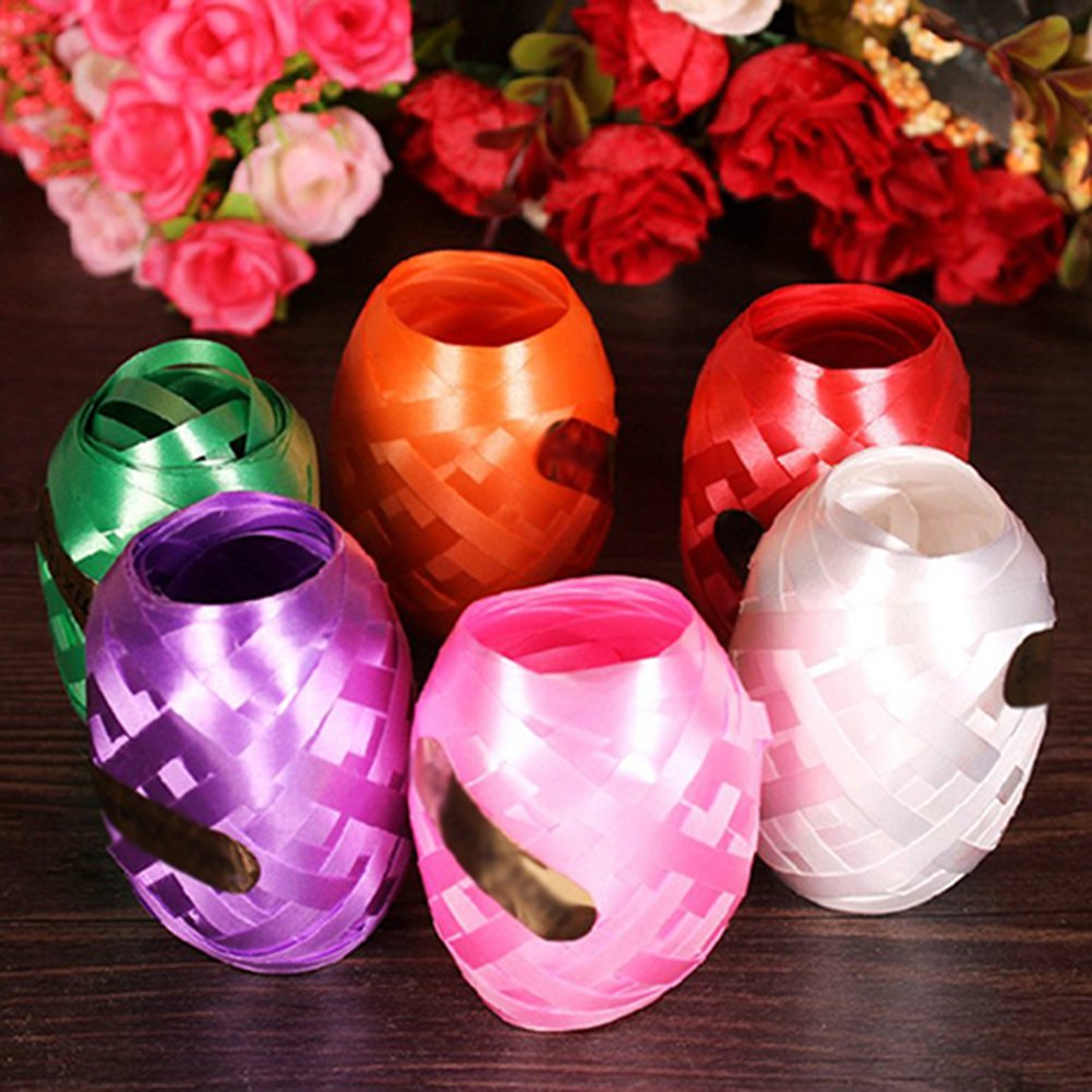 6Pcs Foil Balloon Ribbon Rope Strap Decor Curling Ribbon Roll for Parties, Festival, Florist, Crafts and Gift Wrapping