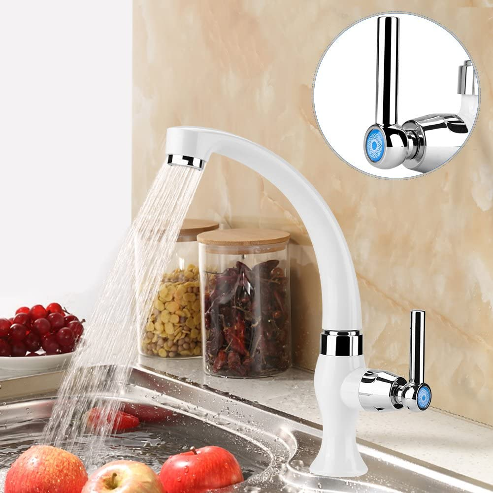 G1//2 ABS Plastic Single Cold Faucet Water Tap Kitchen Sink Bathroom Basin Accessories Straight Handle