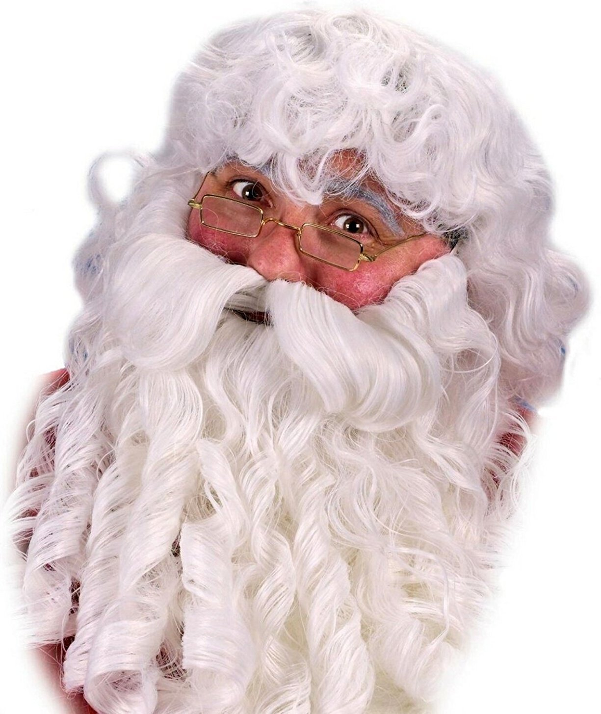 Fun World Costumes Men's Deluxe Santa Wig Beard and Mustache, White, One Size FunWorld 7521