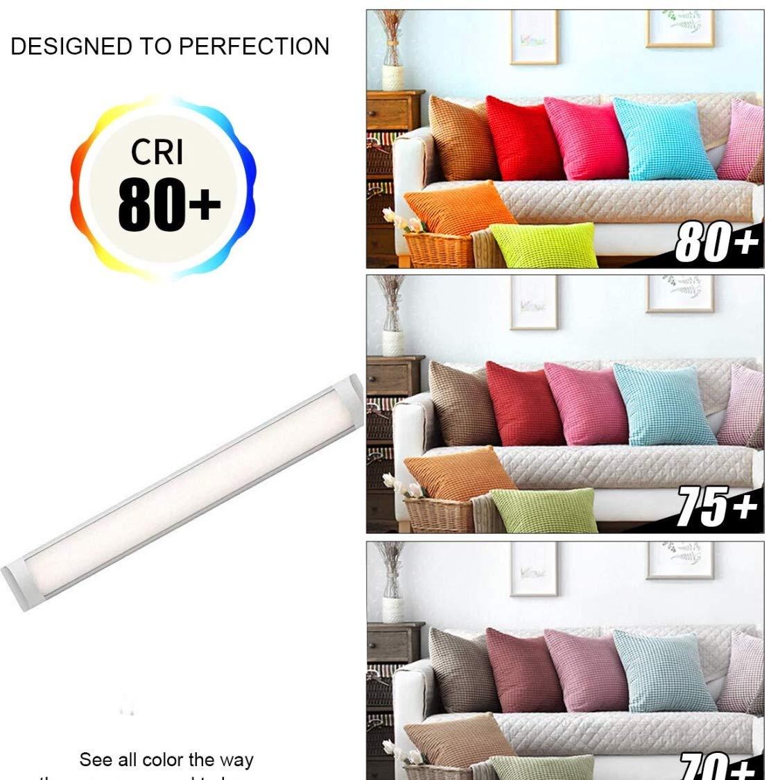 couleur blanc froid 120cm /étanche /à la poussi/ère /équivalent /à 2 tubes T8 fluorescents ou /à 3 300 lumens r/éels! LA 36w 6500K Bo/îtier de l/écran Tube LED int/égr/é T10