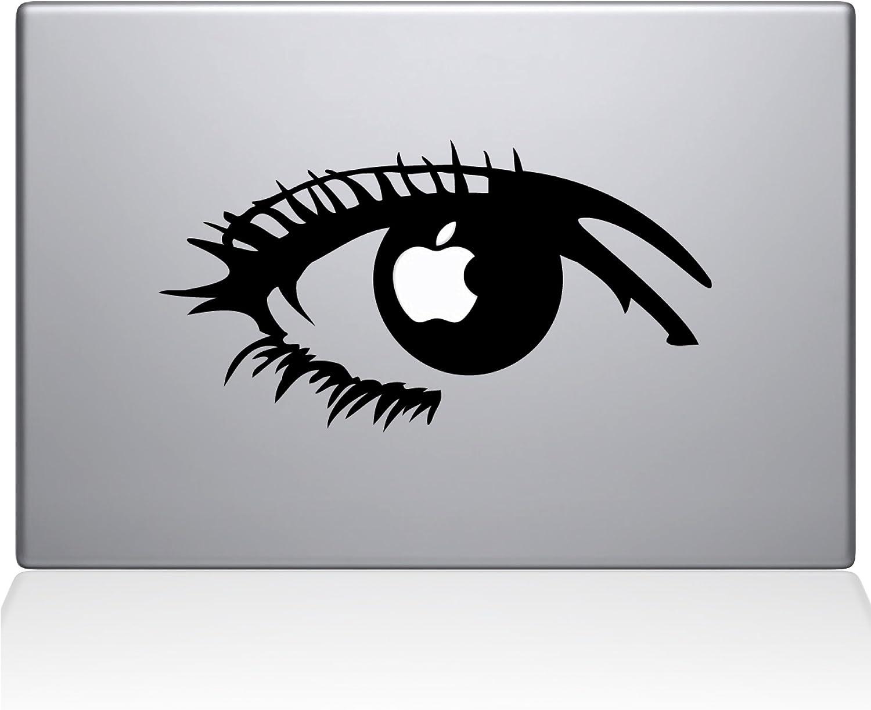 "The Decal Guru 0160-MAC-12M-BLA Apple of my eye Vinyl Sticker, 12"" Macbook, Black"