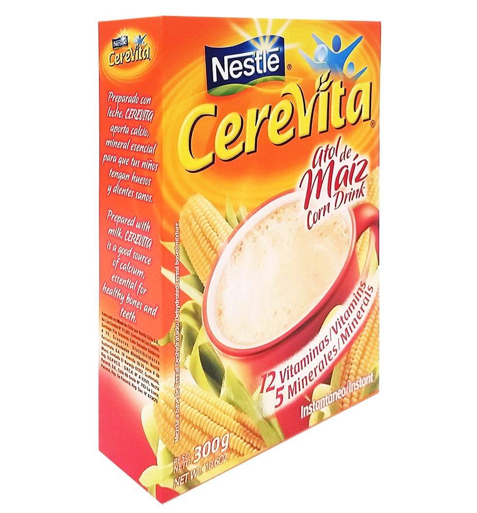Amazon.com : Cerevita Corn Drink 10.58 oz - Atole de Maiz (Pack of 12) : Grocery & Gourmet Food
