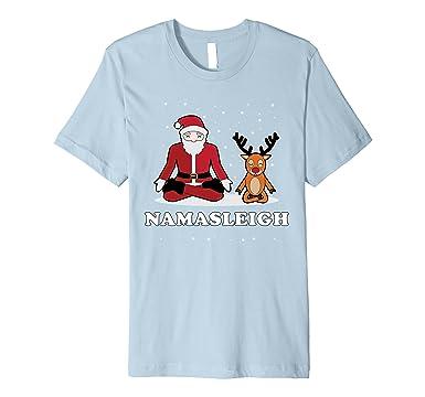1b17906bf Amazon.com: NamaSleigh T-Shirt Funny Yoga Christmas Shirt: Clothing