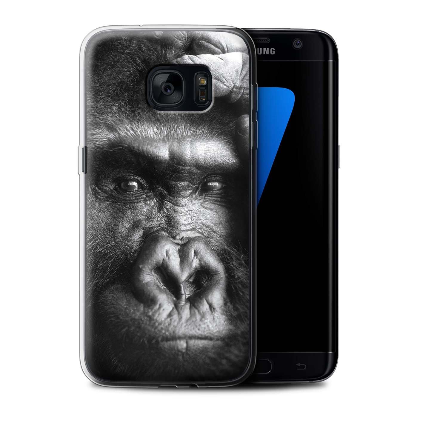 Stuff4 Gel TPU Hülle / Case für Samsung Galaxy S7 Edge/G935 / Gorilla / Affe Muster / Wilde Tiere Kollektion