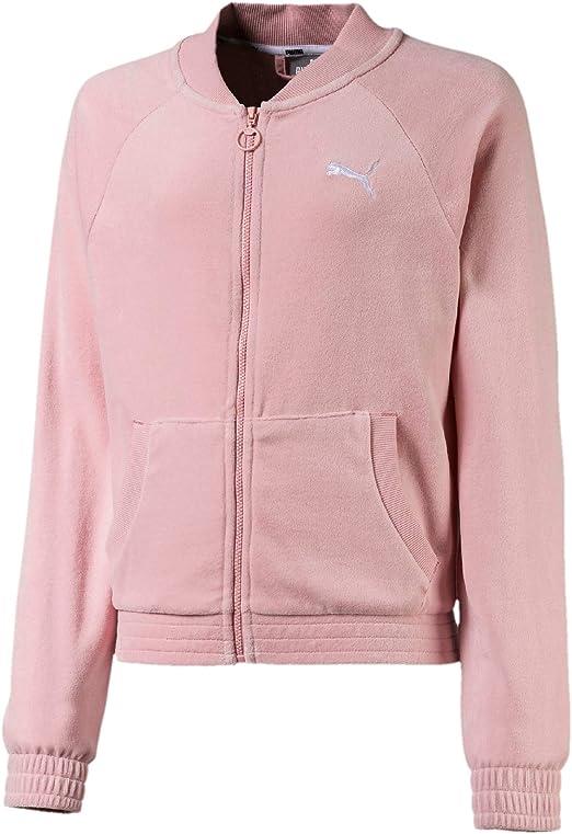 PUMA Mädchen Alpha Velvet Jacket G Trainingsjacke:
