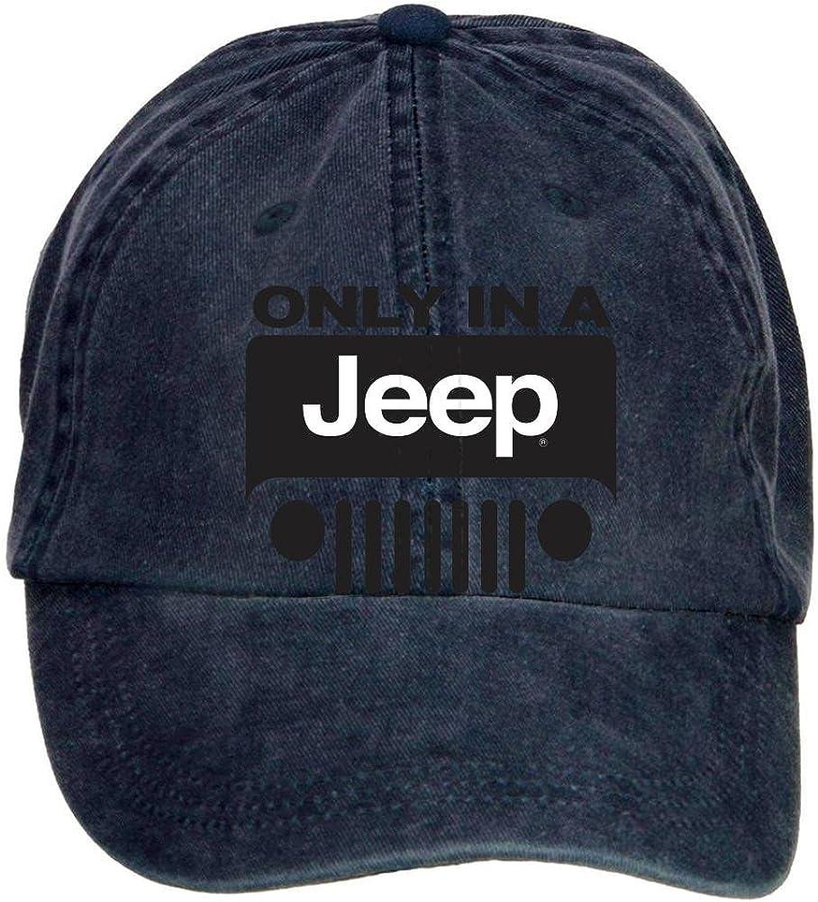 ciyanccapp Unisex Jeep Wrangler Logo Baseball Caps Velcro Adjustable