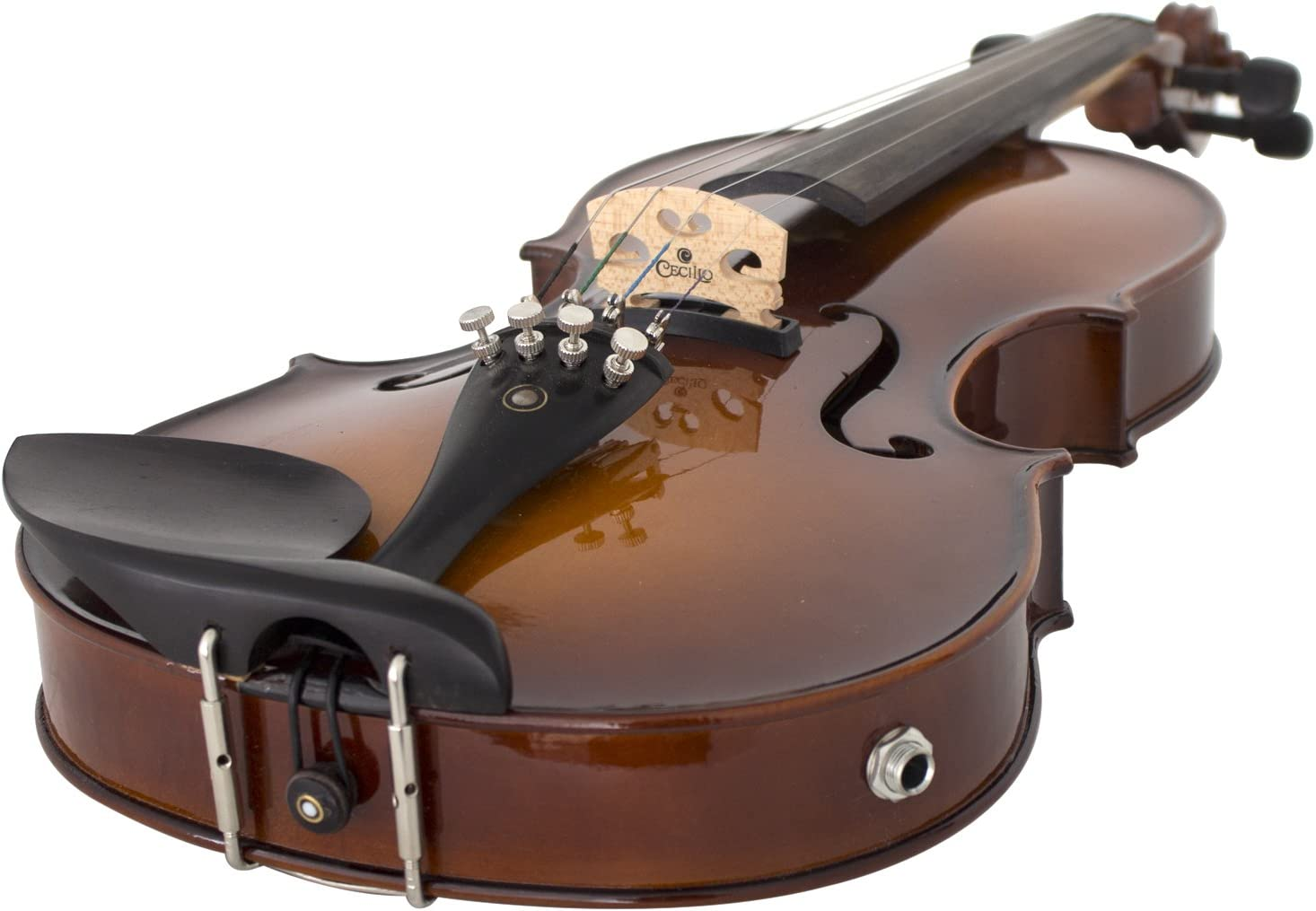 Cecilio 4/4 CVNAE-330 Ebony Fitted Acoustic/Electric Violin in Antique...