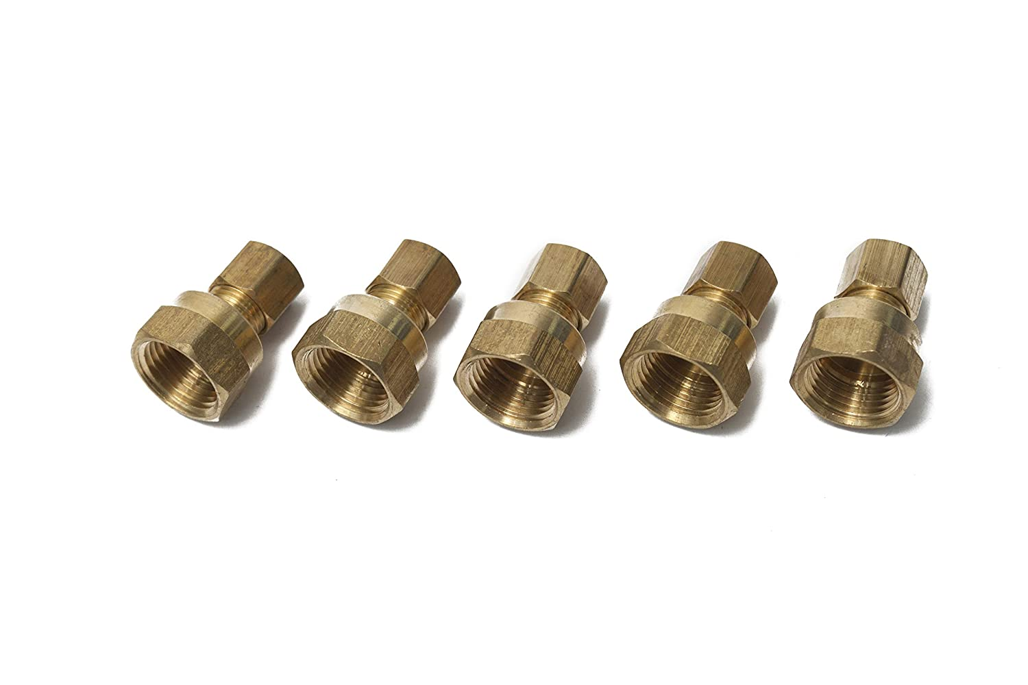 Generic Brass 1/4' OD x 1/4' Female NPT Compression Connector Fitting(Pack of 5 ) HuaxinYicheng Trade Co. Ltd.