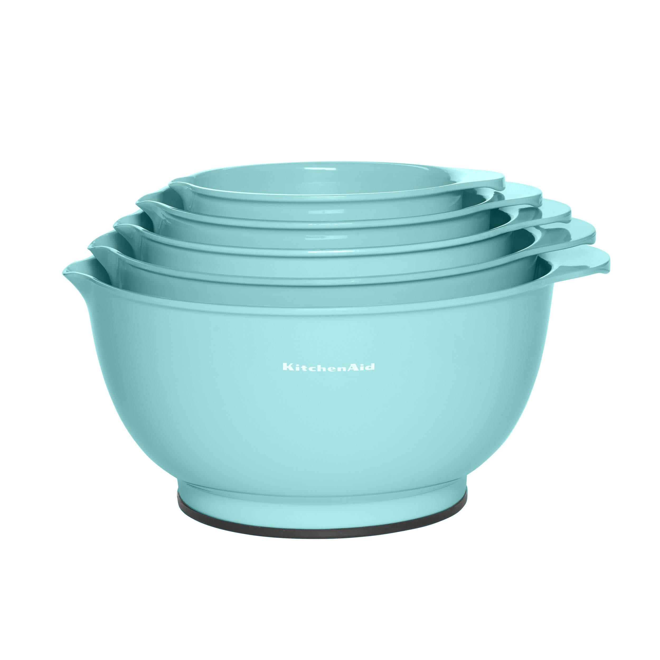 KitchenAid Mixing Bowls, Set of 5, Aqua Sky