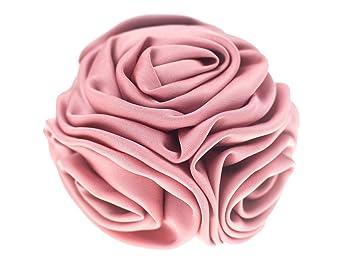 71e2871826e Fashion Ribbon Flower Rose Bride Hair Claw Clip Pin Ladies Women Accessory  Pink