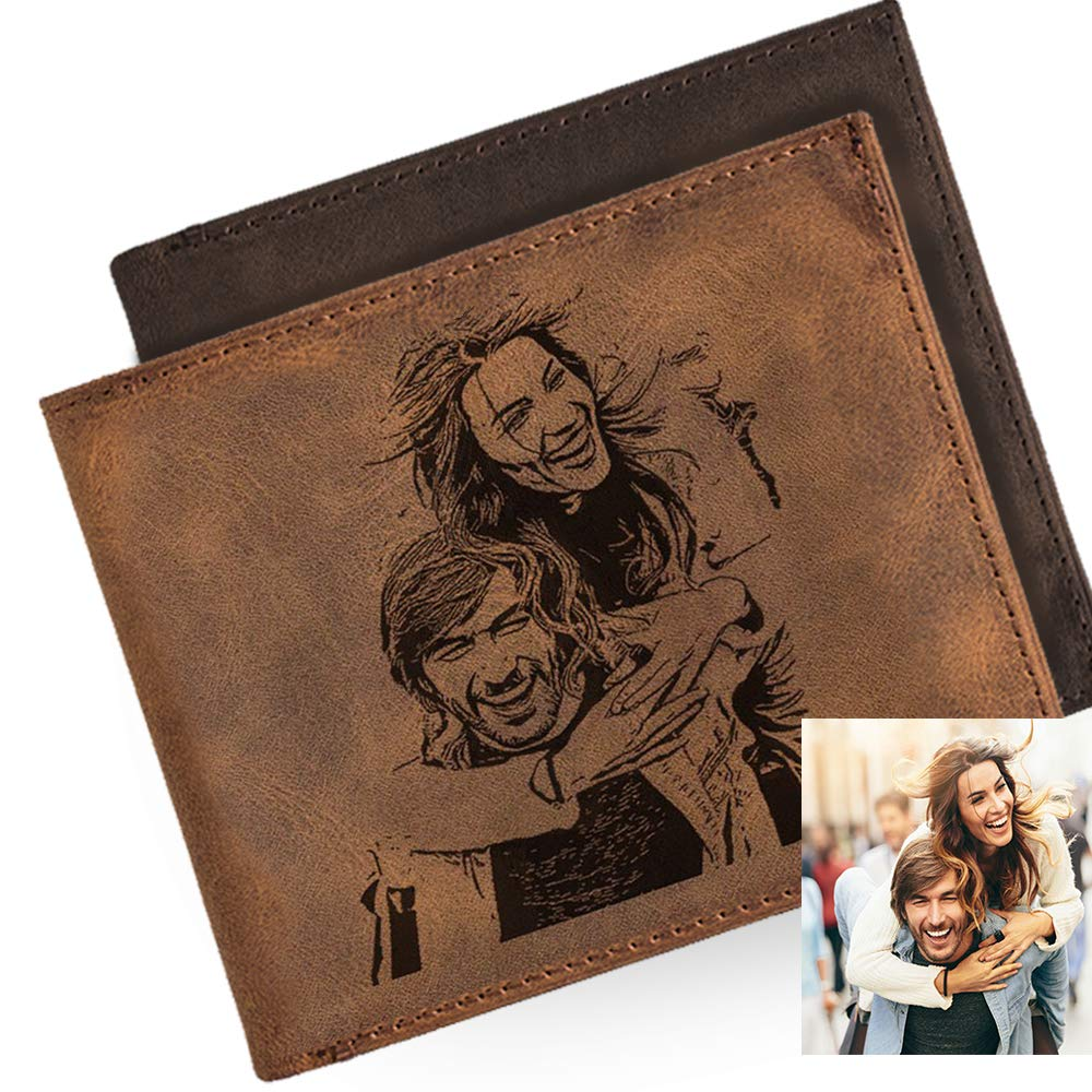 Boyfriend Gift Fathers Day Gift or Groomsmen Gift Personalized Mens Wallet Leather Wallet Personalized Gifts for Men Bifold wallet The Perfect Mens Gift