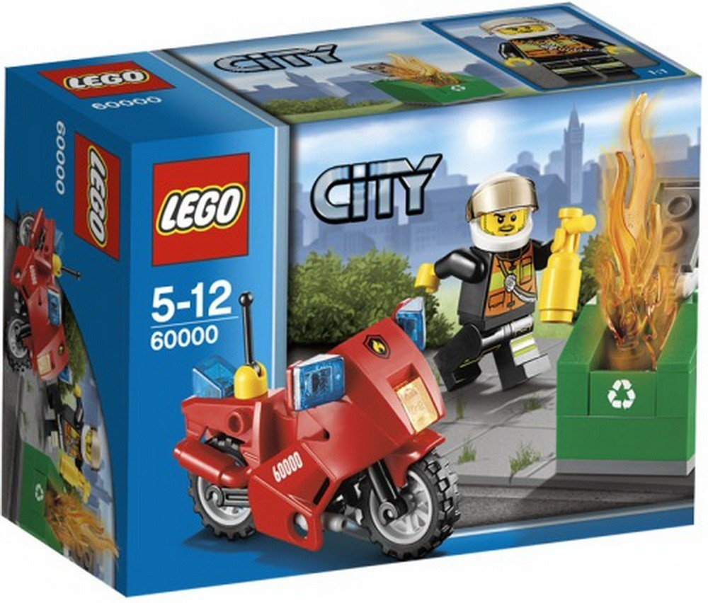 Lego City 60000 Fire Motorcycle Amazon Toys Games
