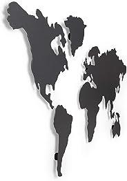 Umbra Mappit 1008050-624, Mapa decorativo para pared, color titanio, 52 x 33 x 3 cm