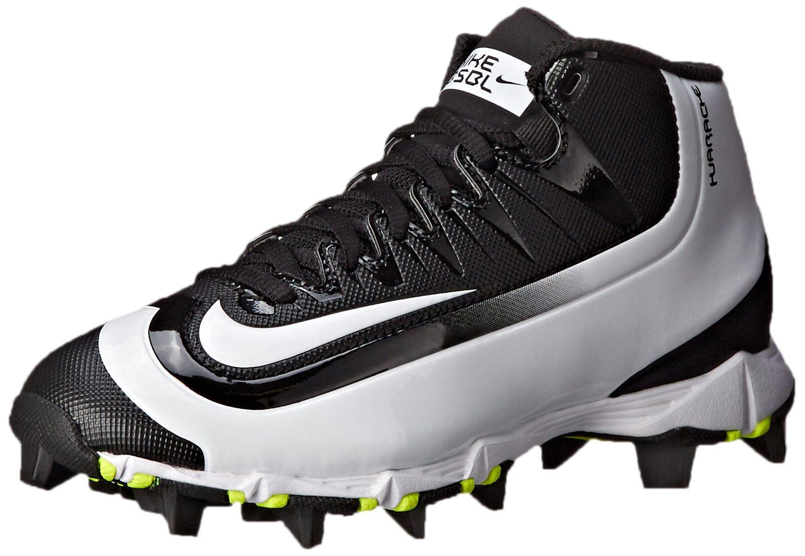 Nike Boy's Huarache 2KFilth Keystone (GS) Baseball Cleat Black/Volt/White Size 1.5 M US