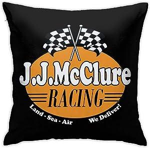 HUABDWA Burt Reynolds JJ Mcclure Racing Cannonball Run Pillowcase Throw Pillow Covers 18 X 18 Inch/45 X 45 cm Double-Sided Printing