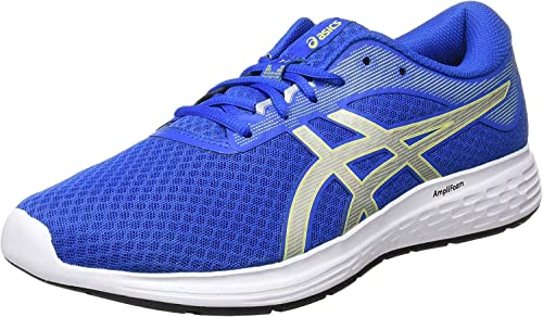 Siempre Incidente, evento Cumplir  Amazon.com: ASICS Patriot 11 - Zapatillas para correr para hombre, color  azul y plateado: Shoes