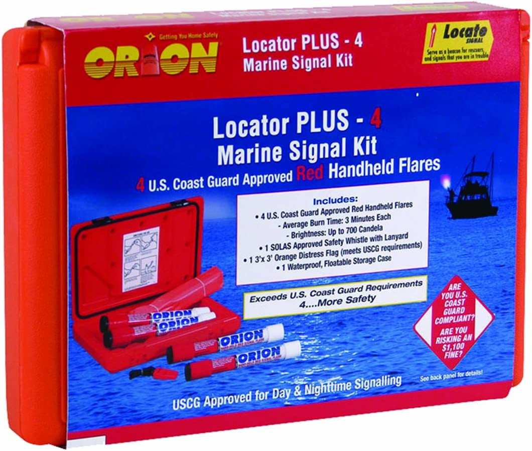 """Orion Coastal Locator Plus 4"""" Signal Kit with Hand Held Signals"""