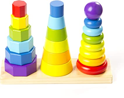 First Steps Baby 9 Stack Up Cups Stacking Tower Toy