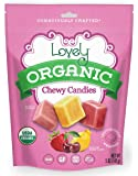 ORGANIC Chewy Candies - Lovely Co. 5oz Bag - Strawberry, Lemon & Cherry Flavors   NO HFCS, GLUTEN or Fake Ingredients…