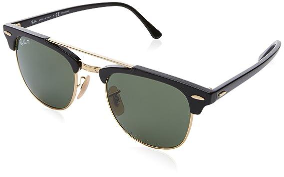 65f14b27dfe Ray-Ban 0rb3816901 5851clubmaster Doublebridge Polarized Square Sunglasses
