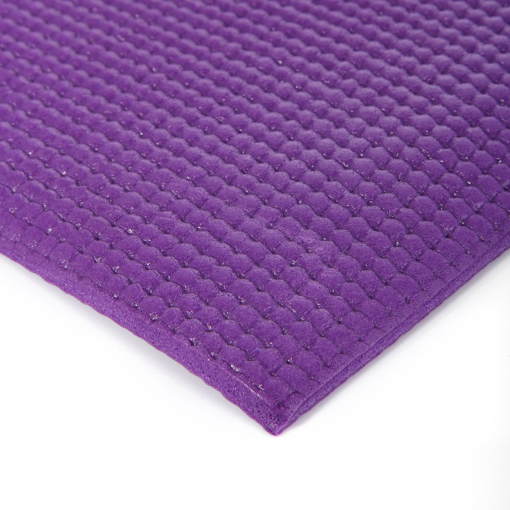 MASIONE Yoga Mat Thick Exercise Mat Yoga Pad Yoga Mats Bag Set Non-Slip Camping Pad 68'' x 24'' 6mm 1/4-Inch Thick Pilates Mat Floor Mat Camping Mat For Fitness ( Purple ) by Masione (Image #3)
