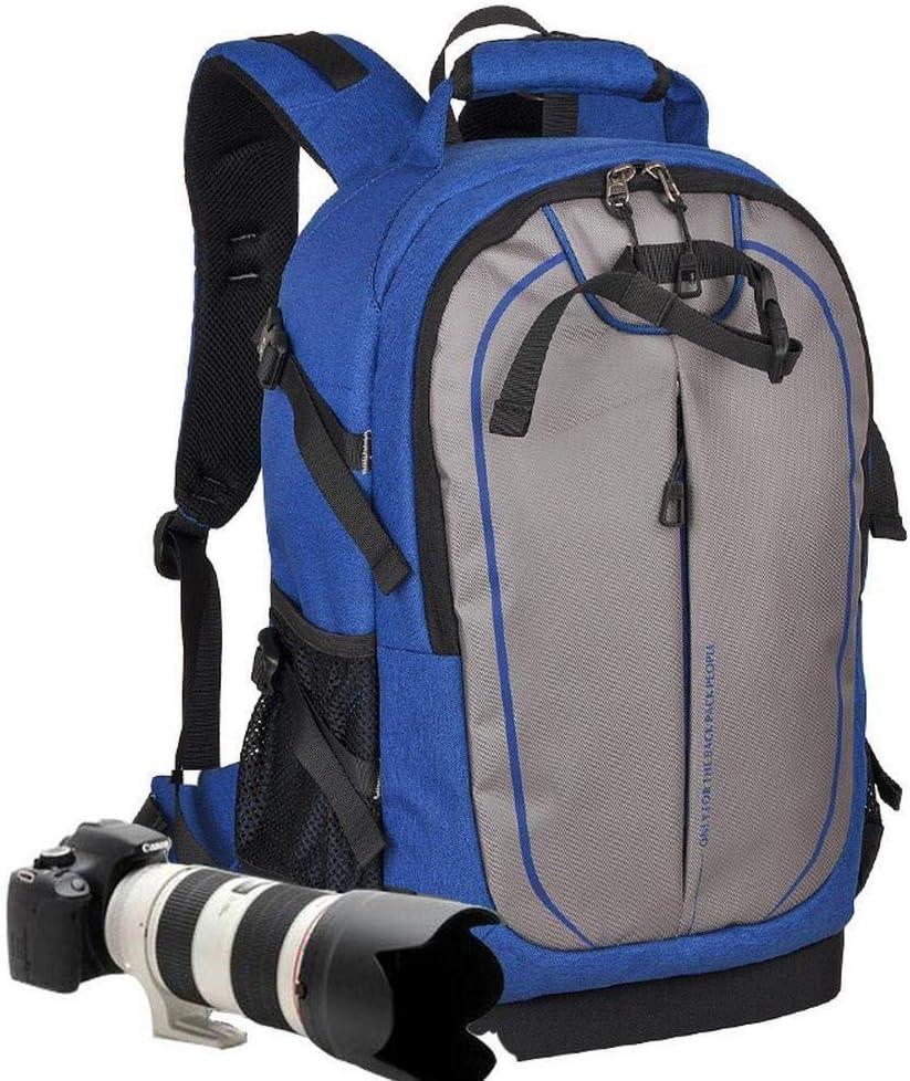 ファッション旅行一眼レフバックパックメンズレディース盗難防止大容量カメラレセプションカメラと三脚アクセサリー大容量バックパック-31 X 17.5 X 46.5CMブルー 絶妙