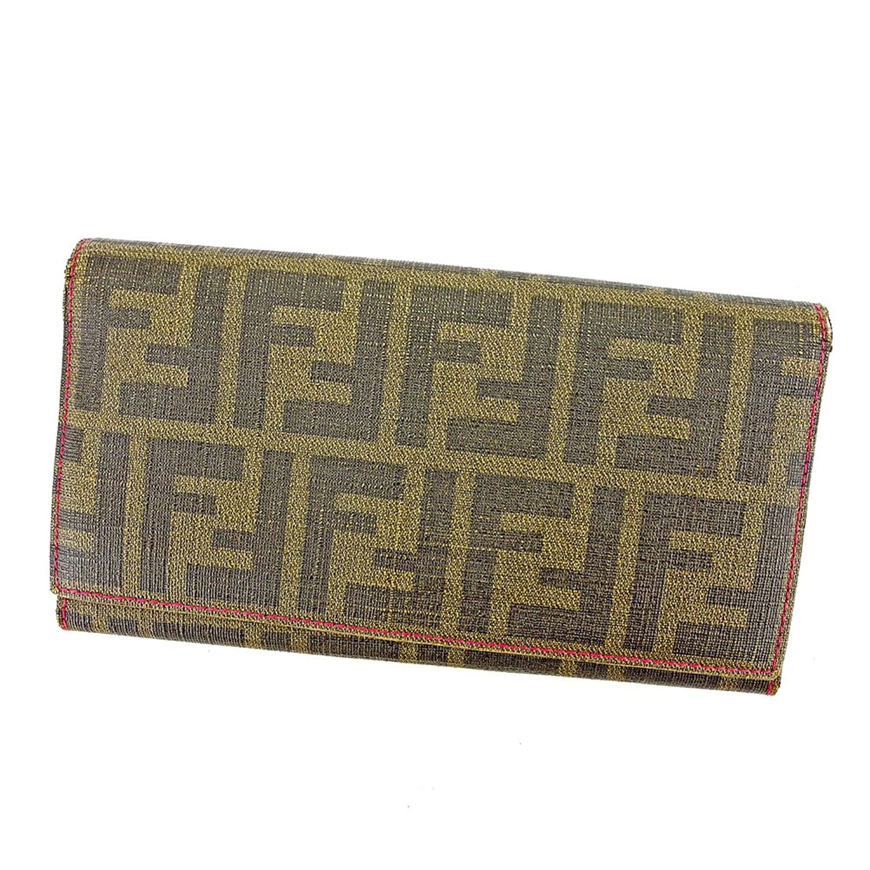 [フェンディ] FENDI 長財布 ファスナー付き 財布 レディース 8M0000 ズッカ 中古 S614 B0765RQKWY