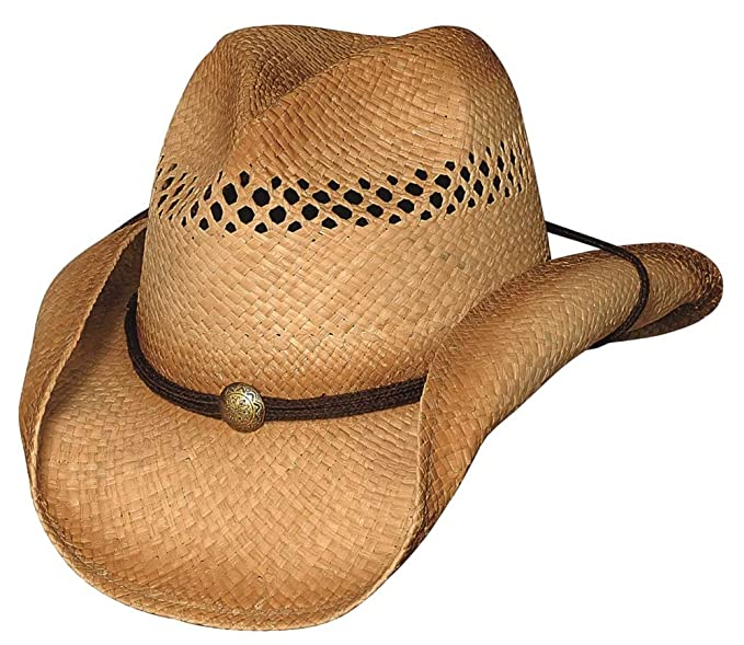 Amazon.com  Bullhide Hats 2227 Run A Muck Collection Blaze Natural ... 01b38047e34