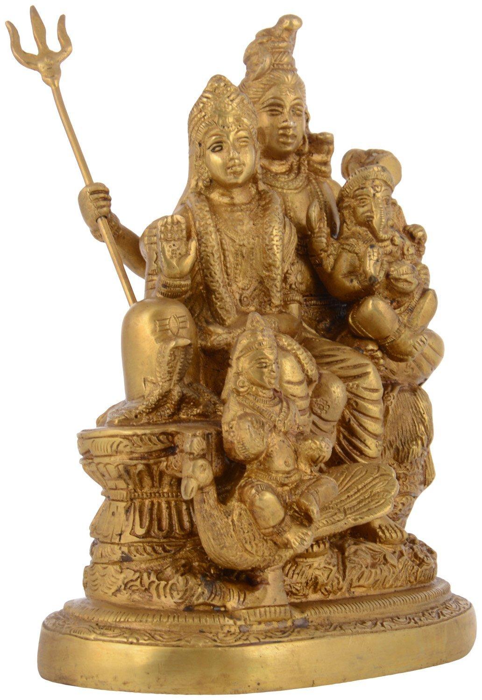 Kapasi Handicrafts Brass Lord Shiv Parivar Idol Big Statues (5.75'' x 3.75'' x 7.5'' Inch) by Kapasi Handicrafts Emporium Since 1973 (Image #5)