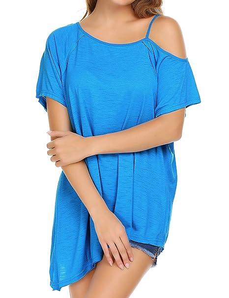 Amazon.com: Soteer - Camisa de manga corta para mujer con ...