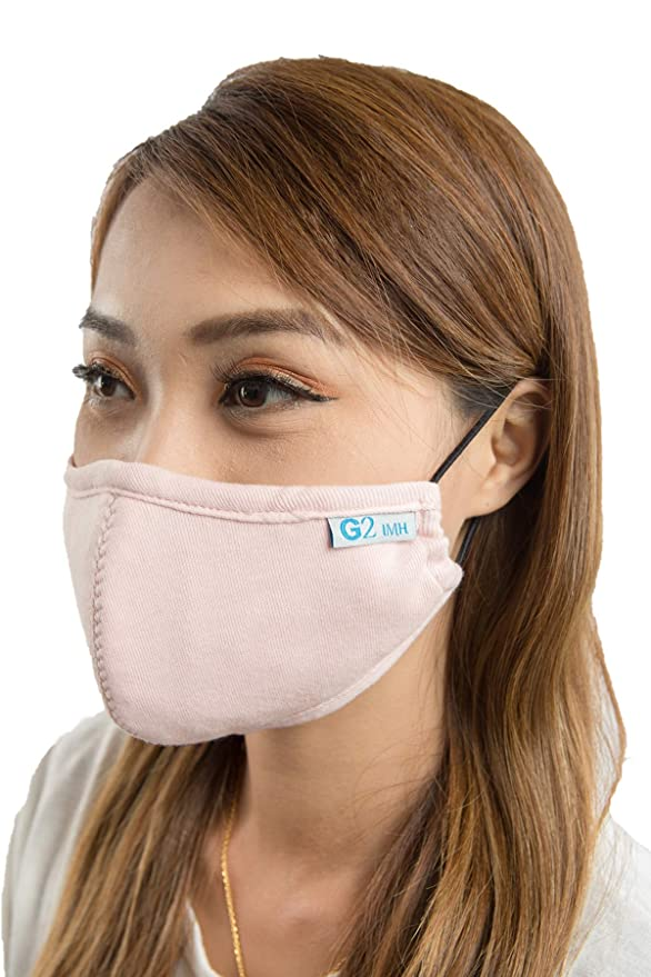 G2 Facemask Antimicrobial & Odorless,Reusable For Two Years, 3-Layered More Breathable & Comfortable, Washable and Economic,Anti Pollen Dust Cover with logo