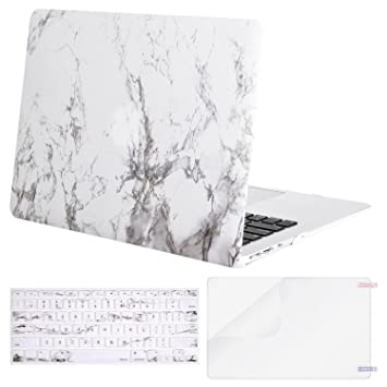 Mosiso Plastic Pattern Hard Case With Keyboard Cover With Screen Protector  For MacBook Air 13 Inch