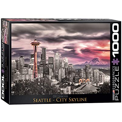 EuroGraphics Seattle City Skyline Puzzle (1000-Piece) (6000-0660): Toys & Games