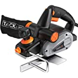 Planer, TACKLIFE Electric Hand Planer, 6-Amp 3-1/4-Inch, 16500Rpm, with 5/64 inch Adjustable Cut Depth, Dual Exhaust Ports, S