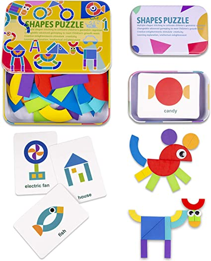 Funny Puzzles Children Box Educational Kids Game Learning Baby Geometry Jigsaw