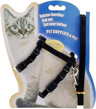 Petyoung Arnés para Gatos con Correa Cinturón de Arnés de Tracción Ajustable para Gatito Cachorro de Perro Pequeño Collar Halter para Gato