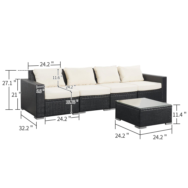 Amazon.com: Juego de sofá de invierno para exteriores de ...