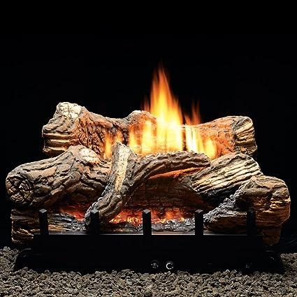 Amazoncom Mv 5 Piece 18 10000 Btu Ceramic Fiber Log Set Liquid