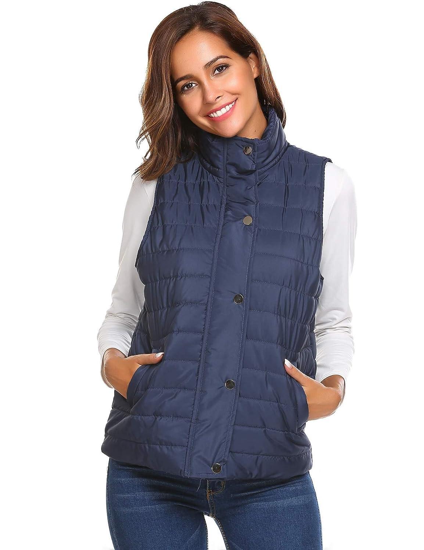 Meaneor Women's Packable Lightweight Down Vest Outdoor Puffer Vest Coat **MAH020206