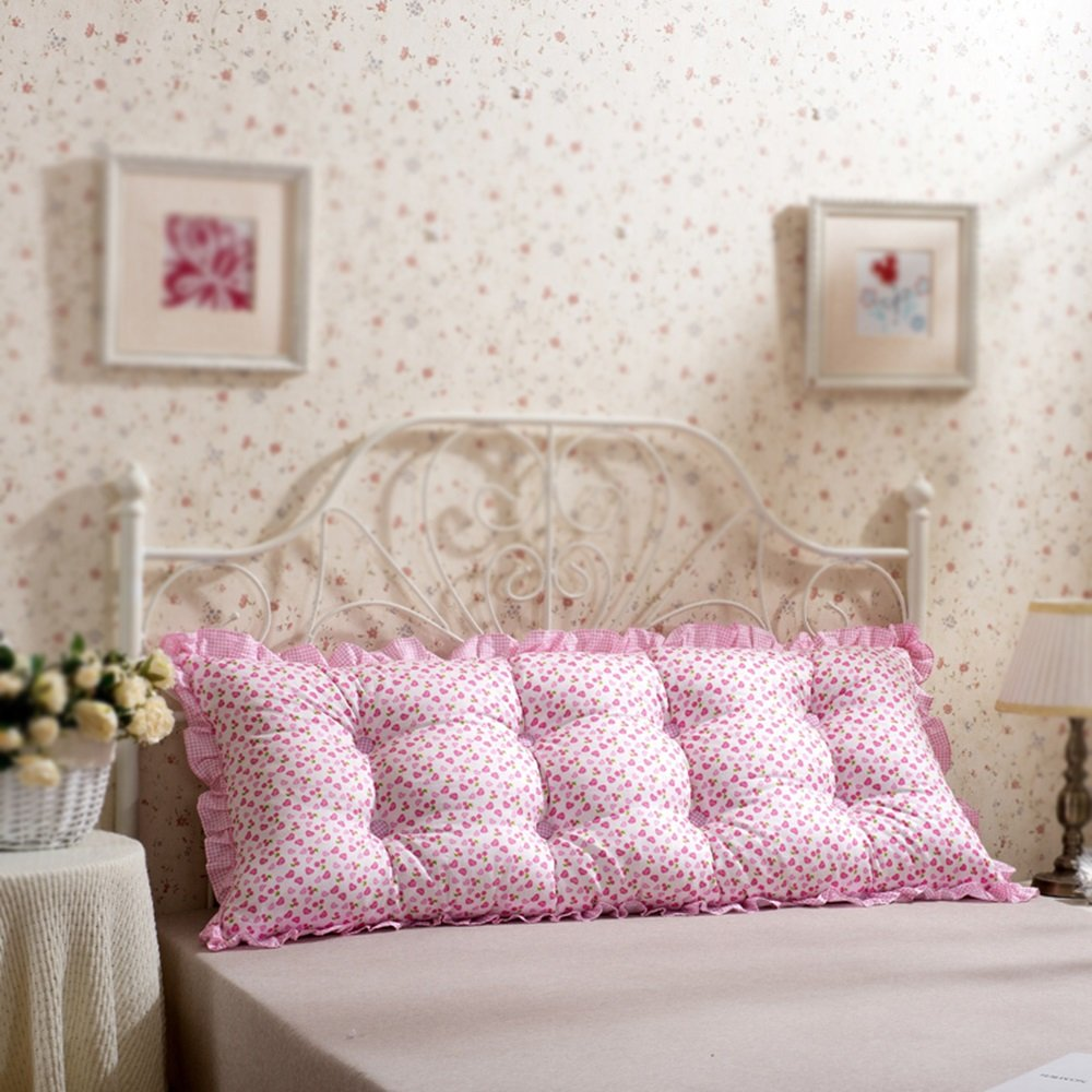 Large backrest / double pillow / geometric bed cushion / bedside cushion / cotton washable / sofa pillow ( Color : B , Size : 20060cm )